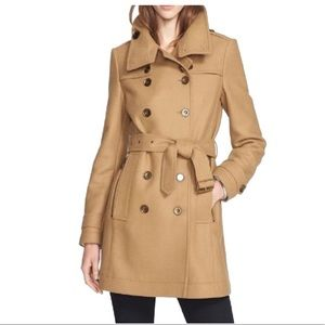 BURBERRY LONDON DAYLESMOORE WOOL BLEND TRENCH COAT